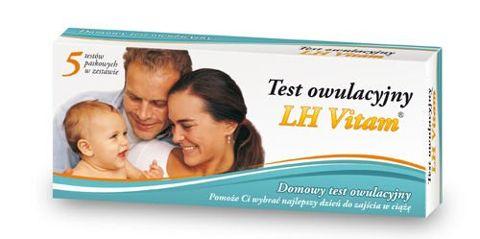 TEST LH VITAM owulacyjny x 5 testów