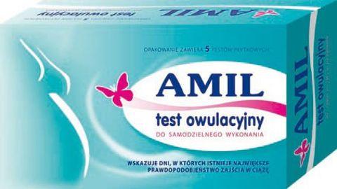 TEST OWULACYJNY AMIL płytkowy x 5 szt.