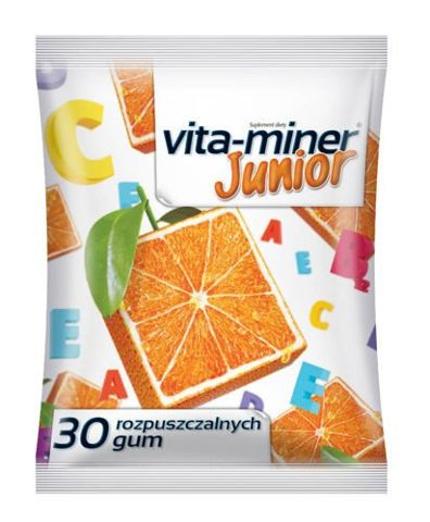 Vita-miner Junior Gumy rozpuszczalne x 30 sztuk