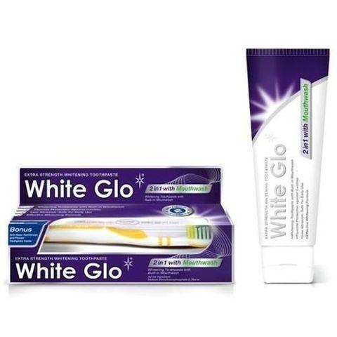 WHITE GLO 2in1 Whitening Pasta do zębów wybielająca 100ml