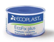 Ecoplast Przylepiec opatrunkowy tkaninowy EcoFix plus na szpuli 1,25cm x 5m
