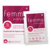Femma Everyday chusteczki do higieny intymnej x 12 sztuk - data ważności 31-01-2019r.