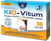 KiD-VITUM Witamina K i D dla niemowląt kapsułki twist-off x 96 sztuk