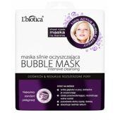 L'biotica Bubble Mask maska oczyszczająca na tkaninie 23ml - data ważności 31-01-2020r.