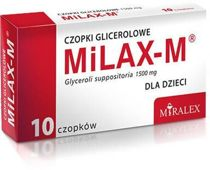MILAX-M czopki glicerolowe x 10 sztuk