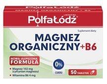 Magnez organiczny + B6 x 50 tabletek