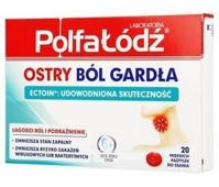 Ostry ból gardła x 20 pastylek do ssania
