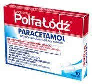 PARACETAMOL 500mg x 10 tabletek