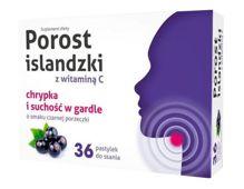 Porost islandzki z witaminą C x 36 pastylek do ssania