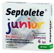 SEPTOLETE Junior x 18 pastylek
