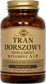 SOLGAR Tran Dorszowy x 100 kapsułek - data ważności 30-12-2019r.
