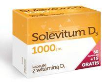Solevitum D3 1000j.m. x 60 kapsułek + 15 gratis!