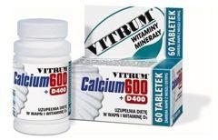 VITRUM Calcium 600 + D400 x 60 tabl. - data ważności 30-09-2019r.