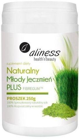 ALINESS Naturalny Młody Jęczmień PLUS Fibregum Proszek 250g