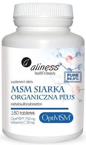 ALINESS Siarka organiczna OPTIMSM MSM x 180 tabletek