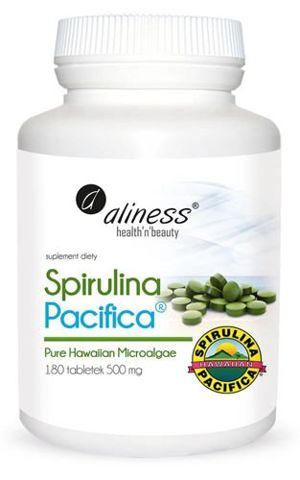 ALINESS Spirulina Pacyfica 500mg x 180 tabletek