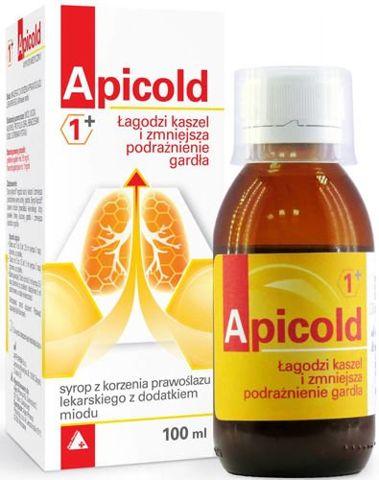 APICOLD 1+ Syrop z korzenia prawoślazu z dodatkiem miodu 100ml