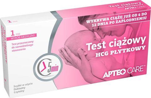 Apteo Care Test ciążowy HCG płytkowy x 1 sztuka