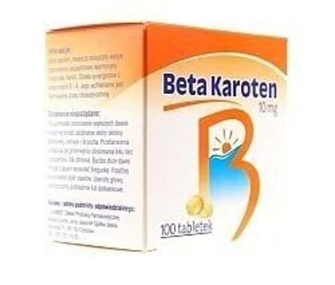 BETA KAROTEN 10mg x 100 tabletek