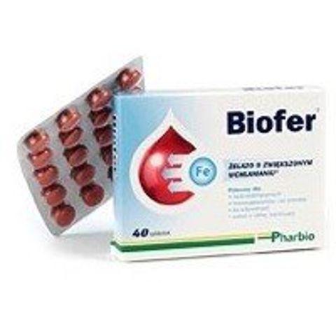 BIOFER x 40 tabletek - data ważności 31-05-2019r.