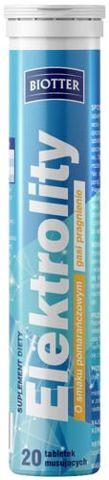 BIOTTER Elektrolity x 20 tabletek musujących