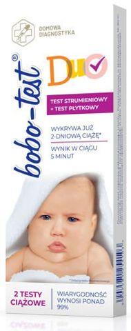 BOBO-TEST DUO x 2 testy ciążowe strumieniowy+płytkowy