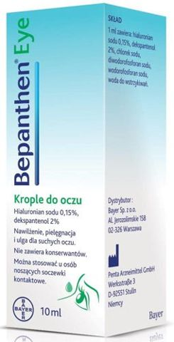 Bepanthen Eye krople do oczu 10ml