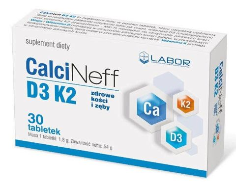 Calcineff D3 K2 x 30 tabletek