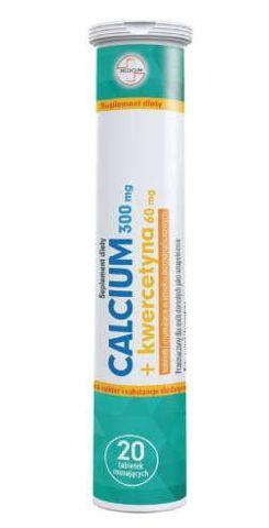 Calcium 300mg + Kwercetyna x 20 tabletek musujących