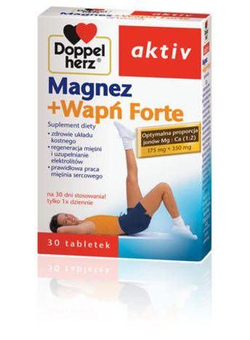 DOPPELHERZ Aktiv Mg + Wapń Forte x 30 tabletek