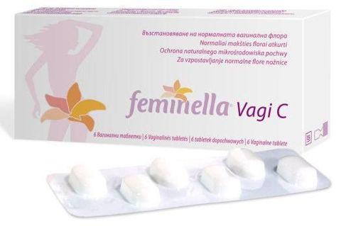 FEMINELLA VAGI C tabletki dopochwowe 0,25g x 6 tabletek
