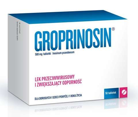 GROPRINOSIN 0,5g x 50 tabletek