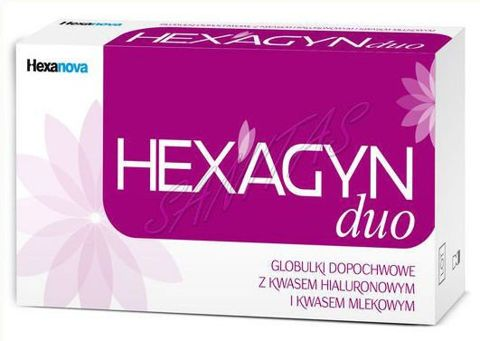 HEXAGYN DUO 2g x 10 globulek dopochwowych