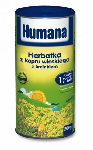 Humana Herbatka z kopru włoskiego z kminkiem 200g