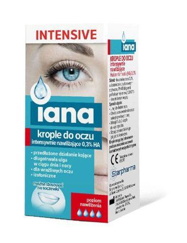Iana Intensive Krople do oczu intensywnie nawilżające 0,3% HA 10ml