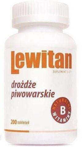 LEWITAN tabletki z drożdzy piwowarskich x 200 tabletek (100g)