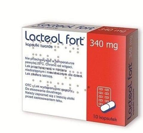 Lacteol Fort 340mg x 10 kapsułek