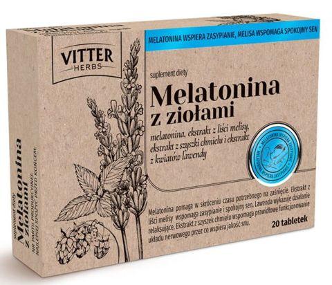 Melatonina z ziołami x 20 tabletek
