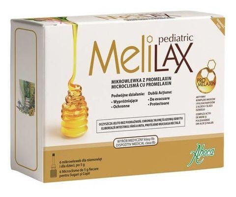 Melilax Pediatric wlewka doodbytnicza x 6 sztuk