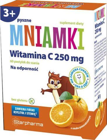 Mniamki Witamina C 250mg x 60 pastylek do ssania