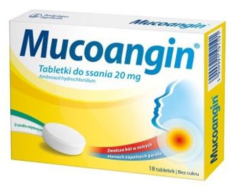 Mucoangin x 18 tabletek do ssania