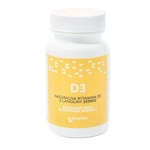 Naturalna witamina D3 z lanoliny 2000IU x 60 kapsułek
