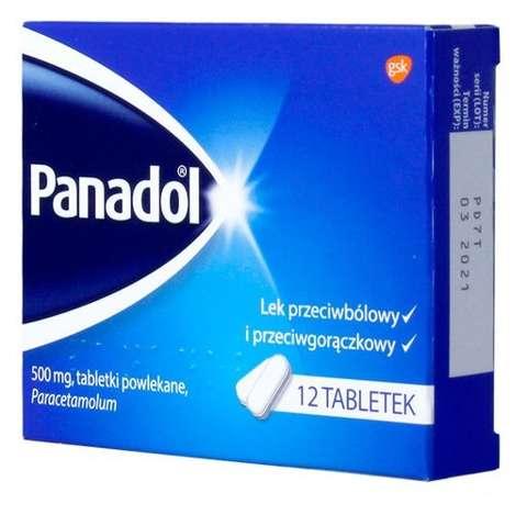PANADOL x 12 tabletek