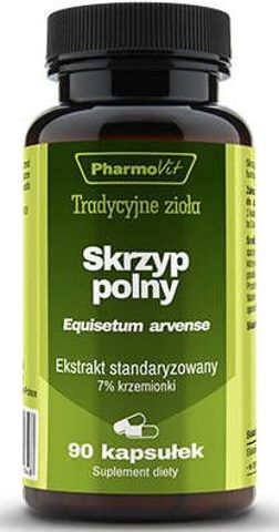 PharmoVit Skrzyp polny ekstrakt standaryzowany na 7% krzemionki x 90 kapsułek