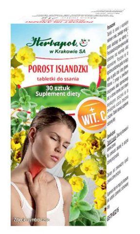 Porost Islandzki x 30 tabletek do ssania