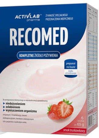 RECOMED smak truskawkowy 65g x 6 saszetek