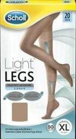 SCHOLL Light Legs Rajstopy uciskowe 20 DEN rozmiar XL cieliste x 1 sztuka