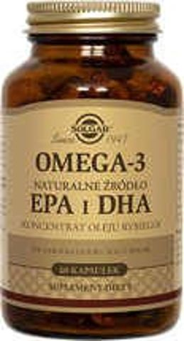SOLGAR Omega-3 Naturalne źródło EPA i DHA x 60 kapsułek