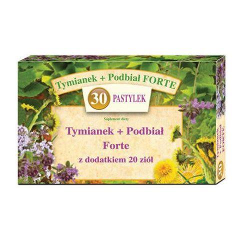 Tymianek i Podbiał Forte + 20 ziół x 30 pastylek do ssania