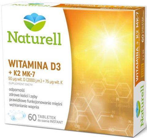 Witamina D3 + K2 MK-7 x 60 tabletek do ssania